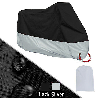 XXXL Silver Motorcycle Cover Waterproof For Harley Davidson Street Glide Touring