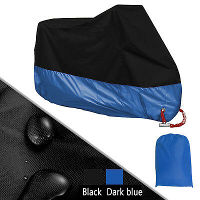 XXXL Blue Protective Dust Waterproof Cover for Motorcycle Street Bikes Outdoor
