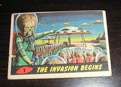 1962 Topps Mars Attacks #1 The Invasion Begins - FIRST CARD IN SET
