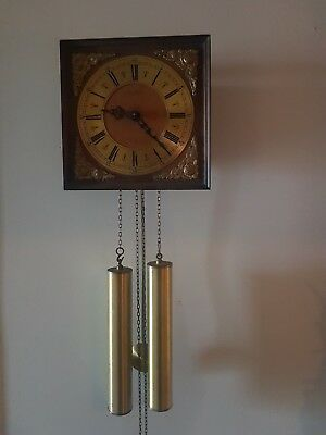 WEHRLE WALL CLOCK *CIRCA 1950's* MADE IN GERMANY * EXCELLENT CONDITION