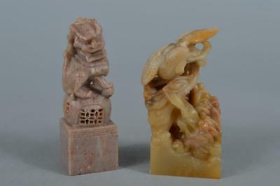 R5655: Chinese Stone Beast Lion-shaped Chop stamp material SEALS Calligraphy