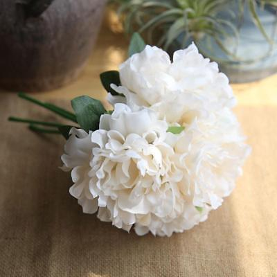 Pretty diy artificial silk fake flowers leaf peony floral wedding artificialrose peony silk flowers leaf bouquet home floral wedding garden decor mightylinksfo