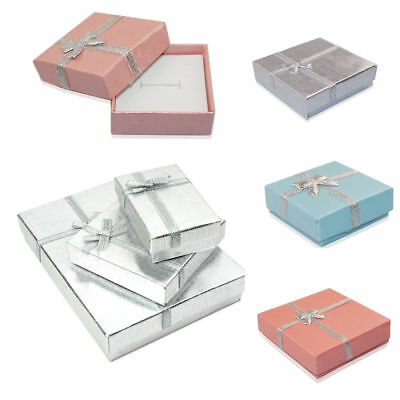 6/12x High Quality Jewellery Gift Boxes Bag Necklace Bracelet Ring Christmas UK