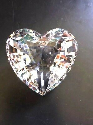 Swarovski 1996 Scs Member Only Renewal Gift - Clear Crystal Heart Retired W/box