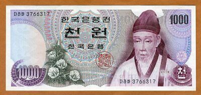 South Korea, 1000 ( 1,000 ) won, (1975), P-44, UNC