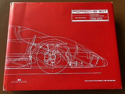 Porsche 917 Museum Archive Works Catalogue Book - Walter Naher - Original G