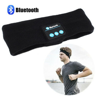 Sports Bluetooth Wireless Earphone Stereo Headphone Headset Sleep Headband Soft