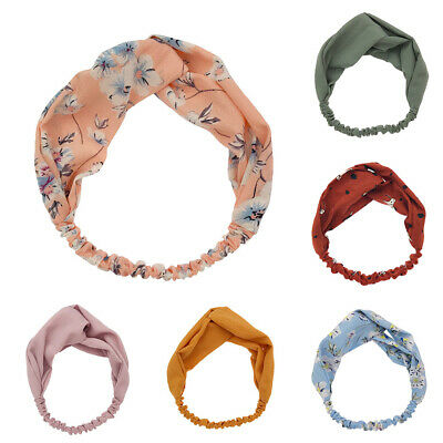Women Girl Turban Twist Headband Head Wrap Twisted Knotted Knot Hair Band Strict