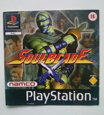*FRONT INLAY ONLY* Soulblade Soul Blade Front Inlay  PS1 PSOne Playstation