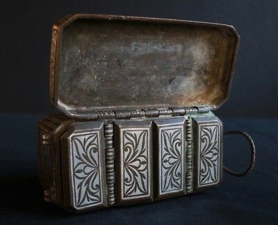 19th contury silver plaited betelnut box, Mindanao, Southern Philippines