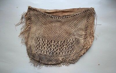 A Verry Rare Early 19Th Century New Zealand Antique Fisching Bag