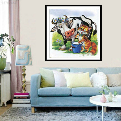 085D DIY Craft Cross Stitch Shining Cow Home Living Room Decorate Full Drill