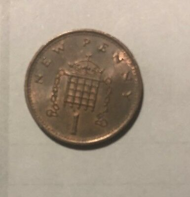 RARE 1971 UK 1 New Penny - First Penny