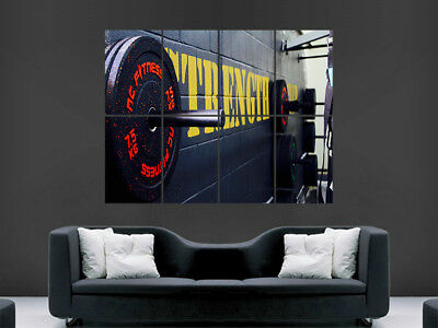 Gym Weights Poster Strength Fitness Weightlifting Art Wall Large Image Giant