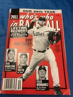 """2011 Who's Who In Baseball Book  Roy Halladay On Front Cover  """"Sale"""""""
