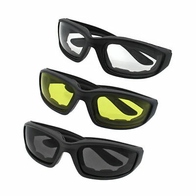 3x Motorcycle Goggles Motorbike Riding Scooter Anti Wind UV Dust Helmet Glasses