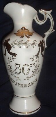 Lefton China 50th Anniversary Commemorative Pitcher #2282