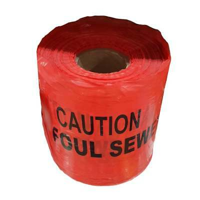 Warning Tape -  Caution FOUL SEWER Tape - 150mm x 365m Roll