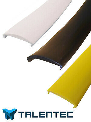 U-molding, white or black, of 16 mm for bartops or arcade machines - per meters