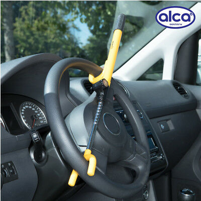 Premium Car anti-theft steering wheel lock 2 hook adjustable 20-38cm 3 keys ALCA