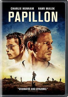 PAPILLON (DVD, 2018) (Mystery & Thriller) NEW FREE SHIPPING