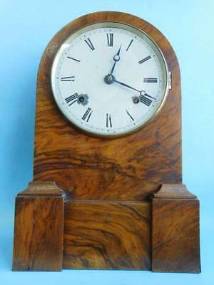 Antique Edwardian Mantle Chiming Case Clock 1900s Working Condition.