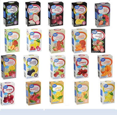 8 Boxes Of Great Value SugarFree Low Calorie Variety Pack Drink Mix Water Flavor