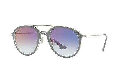 Ray Ban HIghstreet RB4253 6337S5 53 Top Grey on Transparent  / Violet Gradient