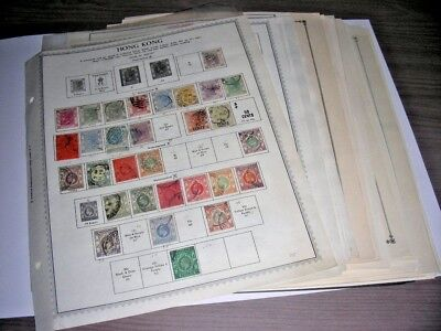 HONG KONG, Excellent Accumulation of Stamps hinged on pages & in  stock sheets