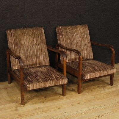 Armchairs couple chairs italian design furniture living room wooden fabric pair