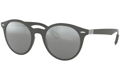 89585f555a Ray Ban Round RB4296 633288 51 Matte Dark Grey   Grey Mirror Silver Gradient