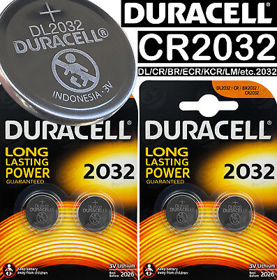 Duracell CR2032 3v LITHIUM Coin Cell Batteries 4 X battery DL2032 BR2032 ST-T15
