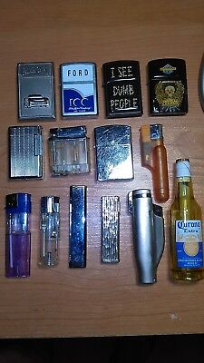 """""""14""""  Assorted Cigarette / Pipe Lighters"""