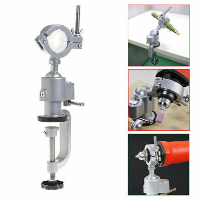 Aluminum 360 Clamp-on Table Vise Bench Grinder Holder Electric Drill Rotary Tool