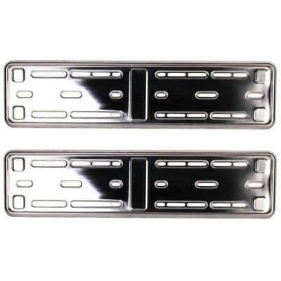2x E-tech Stainless Steel Car Registration Number Plate Holder Surround Frame