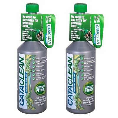 2x Cataclean Petrol Fuel Car Exhaust System Catalytic Converter Injector Cleaner