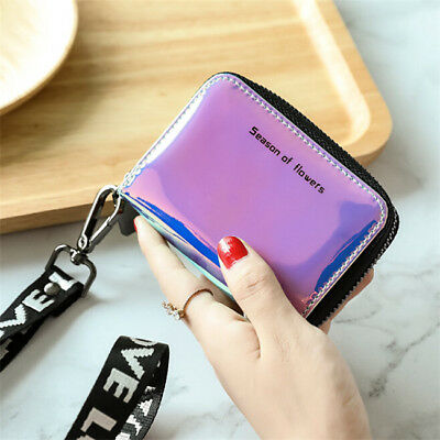 Female Colorful Makeup Laser Bag Small Purse Wallet Holographic Clutch 8C