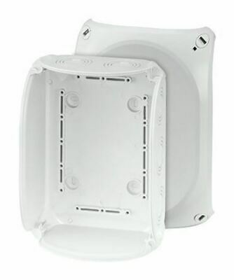 Polycarbonate IP66/67 Junction Box Knock Out, 210 x 155 x 92mm, Grey