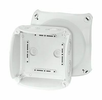 Polycarbonate IP66/67 Junction Box Knock Out, 130 x 130 x 77mm, Grey