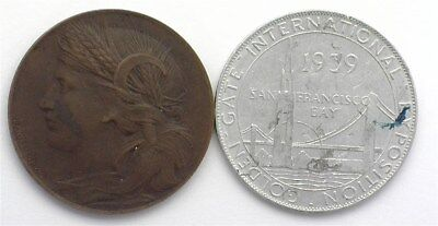 1904 Louisiana Purchase 32Mm And 1939 Golden Gate Expo 31.8Mm Tokens
