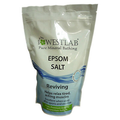 1Kg Westlab Epsom Sel Pure Mineral Bain Sels Ravive & Détend Muscles Neuf