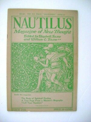 """March 1928   """"nautilus"""" Magazine Of New Thought"""