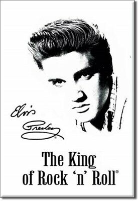 Magnet Aimant Frigo Ø38mm Elvis Presley The King Rock and Roll US
