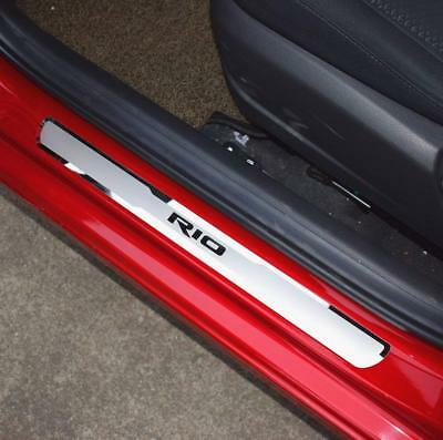 Car Stainless Steel Door Sill Scuff Plate for KIA RIO 2014-2019