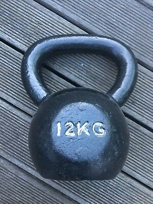 Bodymax 12kg Kettlebell Cast Iron, back, good condition