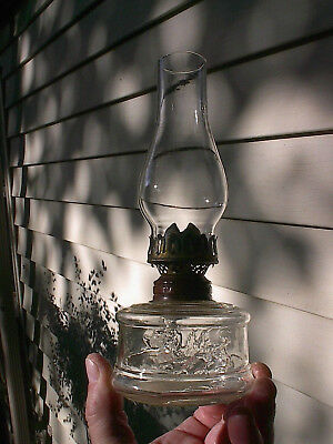 RARE OLD 1890s FIRE BREATHING DRAGON ANTIQUE MINIATURE FINGER OIL LAMP