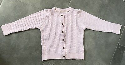 Mothercare Pale Pink Cardigan Age 18-24 Months