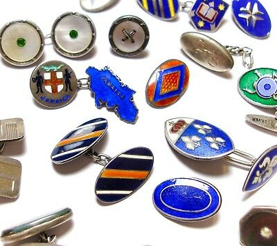 Stunning Large Collection Of Vintage & Antique Single Silver Cufflinks Lot (A1)