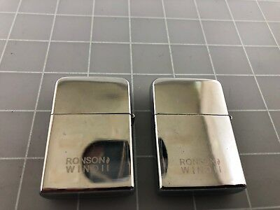 Judd's Lot of 2 Vintage Ronson Wind II Lighters