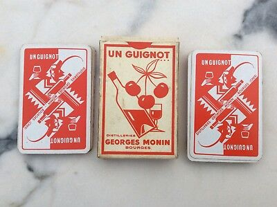 Ancien Jeu De Cartes Un Guignot Georges Monin Bourges Collection